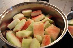 Γλυκό του κουταλιού καρπούζι για καλοκαίρι ή χειμώνα - Χρυσές Συνταγές Cooking Spoon, Fruit Jam, Cantaloupe, Watermelon, Rolls, Sweets, Desserts, Recipes, Food Time