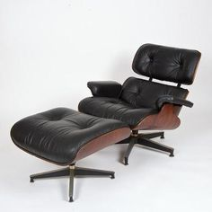 Vintage EAMES Rosewood 670 671 Lounge Chair Herman Miller Old Style Clip EXC