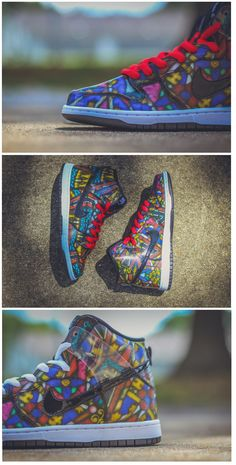 buy popular 50b75 ba542 Concepts x Nike SB Dunk High  Stained Glass  · SkateskorBasketskorNike Air  MaxJordansFärgat GlasTennisSkor