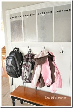 Organizaion for the laundry room/entry way of your home with detailed explanation