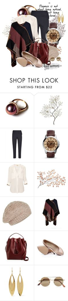 """""""I love Autumn"""" by spells-and-skulls ❤ liked on Polyvore featuring WALL, Jaeger, FOSSIL, T. Babaton, Accessorize, Céline Lefébure, Kenneth Jay Lane, Topman, whiteshirt and poncho"""