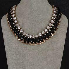 Amazon.com: [Statement Series] Women Chunky Bib Choker Collar Necklaces - Black [MR.TIE] Exquisite Vintage Necklaces: Jewelry