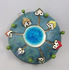 Six...3D Wall Globe in Stoneware by elukka on Etsy, €52.00