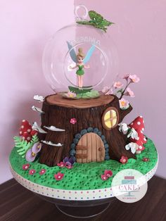 27 Awesome Image Of Tinkerbell Birthday Cakes 27 Awesome Image Of Tinkerbell Birthday Cakes Tinkerbell Birthday Cakes Enchanted Forest Tree Stump Fairy Cake Cakes Berina Birthday Cake Images Fairy Garden Cake, Garden Cakes, Fairy Cakes, Tinkerbell Birthday Cakes, Fairy Birthday Cake, Cool Birthday Cakes, Princess Birthday, 4th Birthday, Fondant Cakes