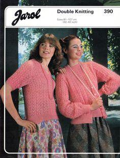 Womens cardigan and top Knitting pattern, Jarol 390, Womens Vintage Knitting Patterns, Summer Knitting Patterns, Lace knitting patterns