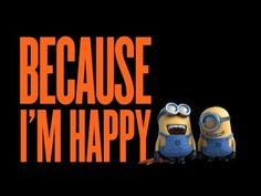 Pharrell Williams - Happy (Despicable Me 2 - Lyric Video) Happy Despicable Me, Despicable Me Costume, Happy Minions, Minions Love, Minions Despicable Me, Funny Minion, Pharrell Williams Happy, Happy Pharrell, Brain Break Videos