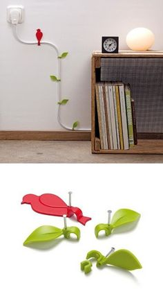 cute idea to hide an ugly cord