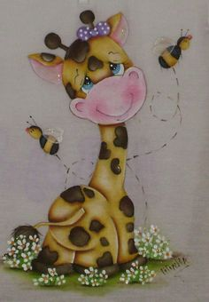 Cute picture for Fabric Painting Cute picture for Fabric Painting The post Cute picture for Fabric Painting appeared first on Home. Baby Painting, Tole Painting, Fabric Painting, Fabric Art, Cute Paintings, Country Paintings, Cute Giraffe, Cute Cartoon, Baby Quilts