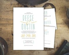 Classic Modern Wedding Invitation Template  by Bejoyfulpaper