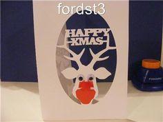 Craft Robo Gsd File Template Happy Christmas Reindeer Head Frame