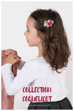 Barrette nuage - Collection Coquelicot - Papa Pique et Maman Coud