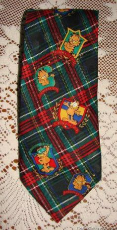 Garfield Cool Cat Plaid Novelty Neck Tie by Paws Addiction Free Shipping in USA | eBay  #garfield #coolcat