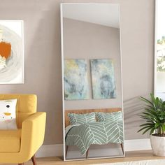 Modern Aluminum Alloy Thin Framed Full Length Floor Mirror - On Sale - Overstock - 30393628 - 71x31x1 - Gold Full Length Mirror Entryway, Full Length Mirror Hanging, Full Length Floor Mirror, Entryway Mirror, Mirror Shapes, Living Room Mirrors, Wall Mounted Mirror, Home Decor Outlet, Aluminium Alloy