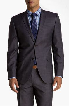 Sand 'Sherman' Blue Plaid Wool Suit available at Nordstrom