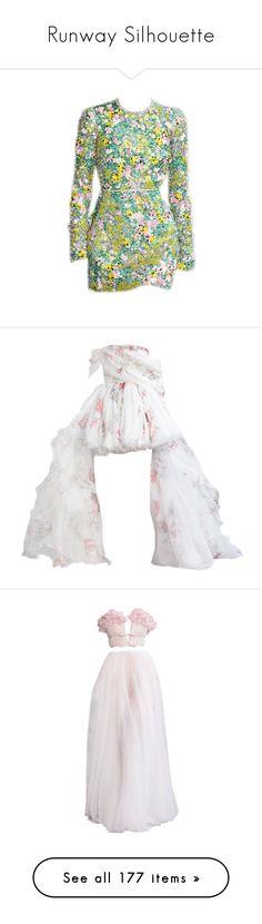 """Runway Silhouette"" by deborahsauveur ❤ liked on Polyvore featuring dresses, gowns, zuhair murad, long dresses, edit, pants, gown, hoodies, vestidos and elie saab"