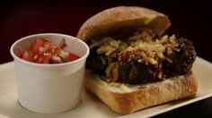 Recipe - Meatball Sub with Tomato and Herb Salad Meatball Subs, Meatball Recipes, My Kitchen Rules, Great Recipes, Favorite Recipes, Herb Salad, Pulled Pork, Breakfast Recipes, Herbs