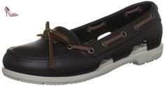 Crocs Beach Line Boat Shoe Women, Chaussures bateau femme, Marron (Espresso/Stucco), EU 37-38 (W7) - Chaussures crocs (*Partner-Link)