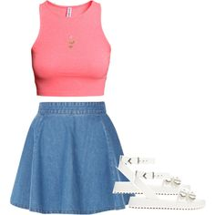 Untitled #1950 by dreakagotswagg on Polyvore featuring moda, H&M, Shellys and Forever 21