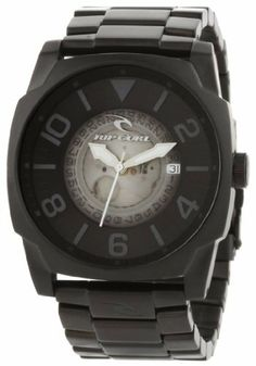 Rip Curl Men's A2422-MID Undercover SSS Midnight Ion-Plated Black Stainless Steel Fashion Watch Rip Curl. $125.93. Brushed IP black case and unique transparent dial detail. Water-resistant to 330 feet (100 M). 316L marine grade stainless steel case and strap. Case diameter: 44 mm. Day-date-24 hr sunray subdials