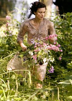 "the-garden-of-delights: "" Keira Knightley as Cecilia Tallis in Atonement "" The Last Summer, Field Of Dreams, My Secret Garden, Keira Knightley, Country Life, Country Living, Country Walk, Wild Flowers, Fresh Flowers"