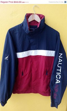 ON SALE Vintage Vtg 90's NAUTICA Sailing Red by REPEATFASHIONSTORE