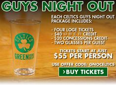 Look forward to a night of Celtics basketball with your closest friends. Learn more about out Guys Night Out Package today!