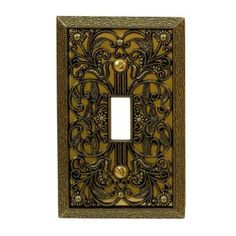 amerelle filigree 1 toggle wall plate antique brass