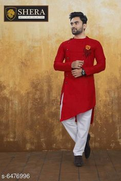 Kurta Sets Attractive Men's Wear Kurta set Top Fabric: Cotton Bottom Fabric: Cotton Sleeve Length: Long Sleeves Bottom Type: Straight Pajama Stitch Type: Stitched Pattern: Solid Sizes: XL (Chest Size: 45 in Top Length Size: 44 in Bottom Waist Size: 34 in Bottom Length Size: 42 in)  L (Chest Size: 43 in Top Length Size: 44 in Bottom Waist Size: 32 in Bottom Length Size: 42 in)  M (Chest Size: 41 in Top Length Size: 44 in Bottom Waist Size: 30 in Bottom Length Size: 42 in)  XXL (Chest Size: 47 in Top Length Size: 44 in Bottom Waist Size: 36 in Bottom Length Size: 42 in) Country of Origin: India Sizes Available: M, L, XL, XXL *Proof of Safe Delivery! Click to know on Safety Standards of Delivery Partners- https://ltl.sh/y_nZrAV3  Catalog Rating: ★4 (2556)  Catalog Name: Fashionable Men Kurta Sets CatalogID_1030940 C66-SC1201 Code: 368-6476996-