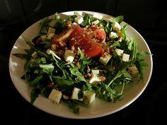 Ruccola Salat mit gerösteten Pecans und Traubensaft Vinegraitte  #glutenfrei #glutenfree