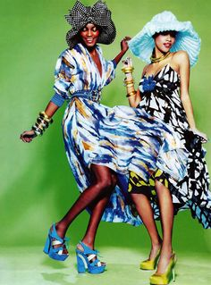 Gorgeous Black Models | Ellen von Unwerth | 'Jump & Smile' | Vogue Italia May 2011 - SensualityNews.com - Fashion Editorials, Art & Sensual Living