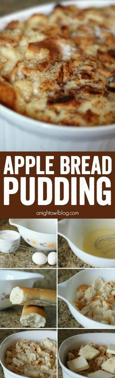 Apple Bread Pudding - all the flavors of fall in one easy and delicious dish! Perfect for a warm breakfast or afternoon snack!