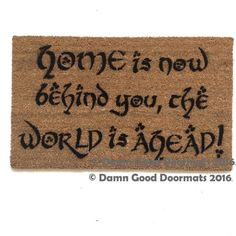 Home is now behind you the world is ahead by DamnGoodDoormats