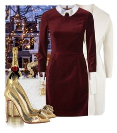 """""""Party season #2"""" by jacisummer ❤ liked on Polyvore featuring Concord, MoÃ«t & Chandon, MaxMara, Dolce&Gabbana, Ted Baker and Christian Louboutin"""