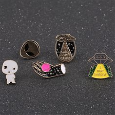 Free shipping fashion new ladies jewelry Drop enamel enamel hand soles earth spacecraft alien series bag coat collar needle -in Brooches from Jewelry & Accessories on Aliexpress.com | Alibaba Group