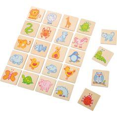 Eduplay, 24 Stück Erkennungsschilder Tiere Holz, für Garderobe im Kindergrten | 110269 / EAN:4260372713014