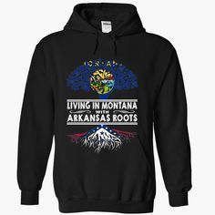 Living in Montana with #Arkansas Roots, Order HERE ==> https://www.sunfrog.com/States/Living-in-Montana-with-Arkansas-Roots-gvdemlywms-Black-Hoodie.html?6782, Please tag & share with your friends who would love it , #christmasgifts #renegadelife #xmasgifts