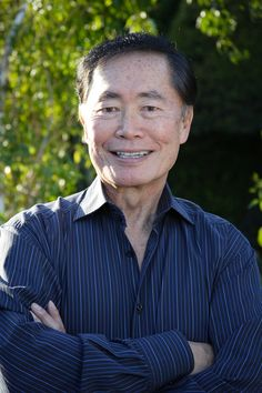 George Takei - Star Trek - Mr. Sulu. Spent some time with him during a convention . We did a panel together so we had dinner. Very nice person... gave me a kiss on the cheek for working with him.