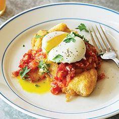 Chiles Rellenos and Eggs with Tomato Jalapeño Salsa | MyRecipes.com