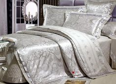$ 158.99 Stylish Classic Decorative Pattern Grey 6 Piece Comfortable Bedding Sets