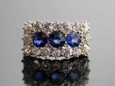 Antique Sapphire and Diamond Ring  14K Yellow by SITFineJewelry, $8500.00  I wish I could afford this.