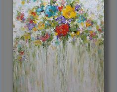 Abstract Painting Abstract Oil Painting Large Painting Art Original Abstract Artwork Flowers Painting Modern Art Painting by Mirjana Drip Painting, Large Painting, Oil Painting Abstract, Modern Art Paintings, Abstract Flowers, Canvas Art, Stretched Canvas, Palette Knife, Credit Cards