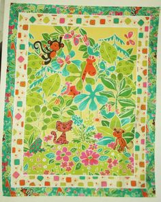 "Whimsical Jungle Scene 100% Cotton Fabric Panel (makes a cute baby blanket) Approx. size: 36"" x 44"". Unknown,http://www.amazon.com/dp/B00KBZ6LAW/ref=cm_sw_r_pi_dp_iu8Dtb0TAWDCEY0D"