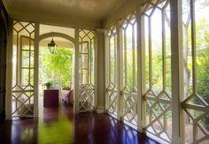 Beautiful sunroom design by Frank G. Neely