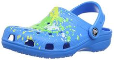 fa2eb56f1708 crocs Classic Splatter Graphic Clogk Unisex-Kinder Clogs   Pantoletten -  http