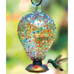 La Fortuna Hummingbird Teardrop, $44, crafted from recycled glass