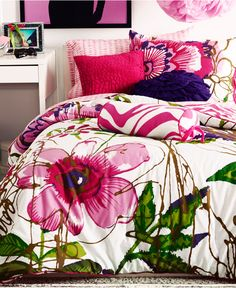 Teen Vogue Bedding, Flora and Fauna Comforter Sets - Bedding Collections - Bed & Bath - Macy's