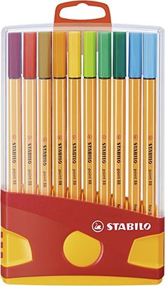 STABILO point 88 - Étui ColorParade de 20 stylos-feutres pointe fine - Coloris assortis