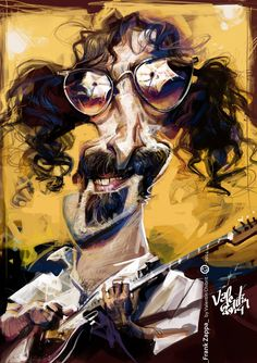 Frank Zappa by Valentin Chibrit (Romania)