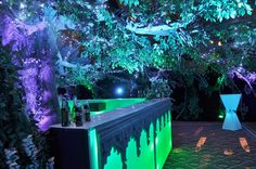 Enchanted forest themed bar