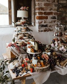 Edison Bulb Installation, Grazing Table and Eco-Friendly Florals Dessert table with Wedding Cake and Doughnut Tower Mobile Bar, Wedding Desserts, Wedding Cakes, Wedding Dessert Buffet, Wedding Rings, Wedding Table, Rustic Wedding, Luxury Wedding, Grazing Tables